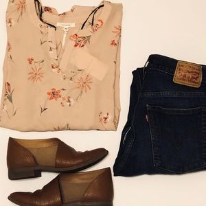 Pleione Floral Tunic Blouse